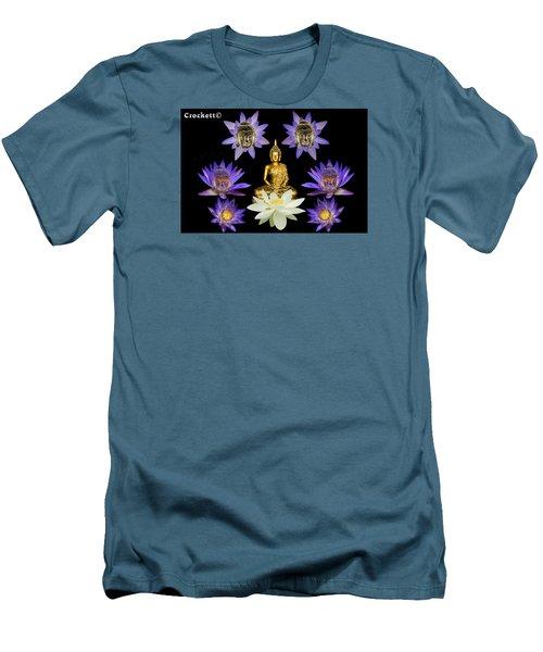 Men's T-Shirt (Slim Fit) featuring the digital art Spiritual Water Lilly by Gary Crockett