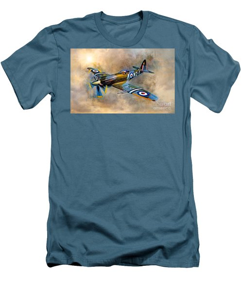Spitfire Dawn Flight Men's T-Shirt (Athletic Fit)