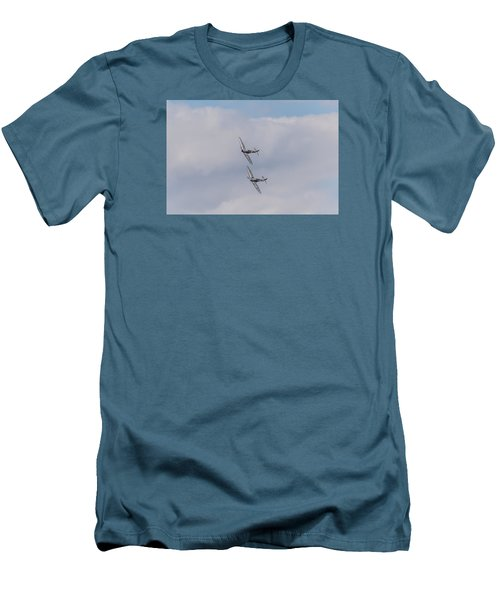 Spitfire Formation Pair Men's T-Shirt (Slim Fit) by Gary Eason
