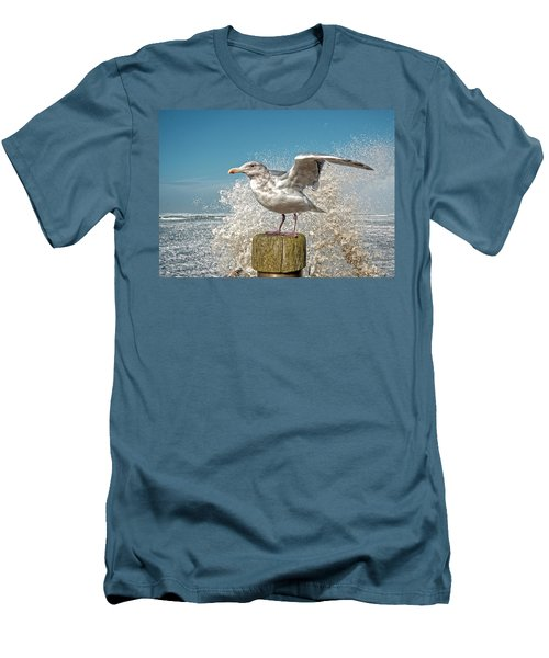 Splash Gull Men's T-Shirt (Athletic Fit)
