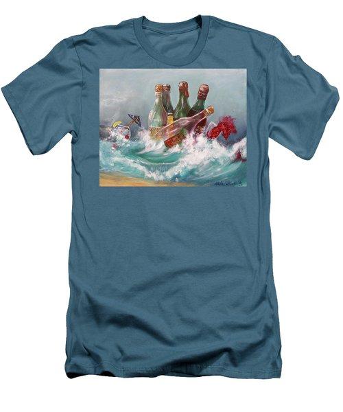 Splattered Wine Men's T-Shirt (Athletic Fit)