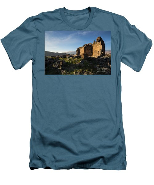 Splendid Ruins Of St. Grigor Church In Karashamb, Armenia Men's T-Shirt (Athletic Fit)