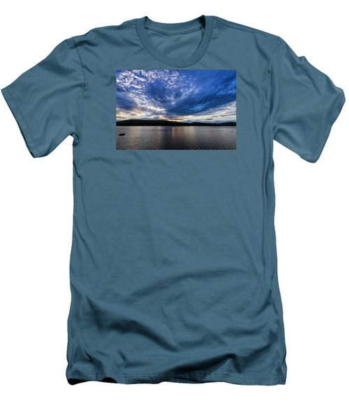 Men's T-Shirt (Slim Fit) featuring the photograph Spofford Lake Sunrise by Tom Singleton