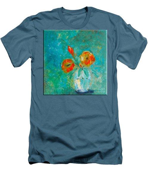 Palette Knife Floral Men's T-Shirt (Athletic Fit)
