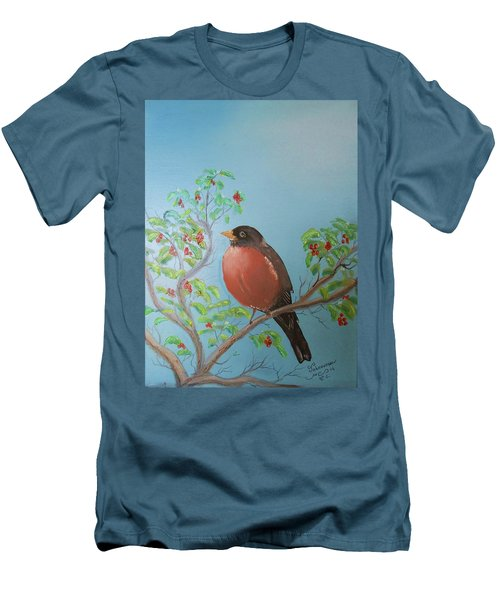 Men's T-Shirt (Slim Fit) featuring the painting Spring by Al Johannessen