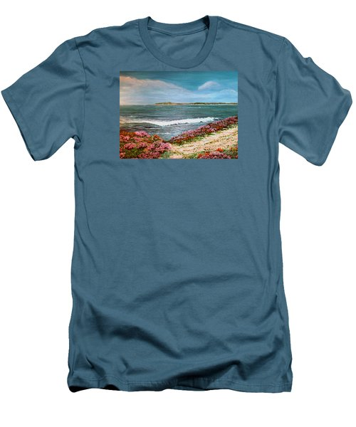 Spring At Half Moon Bay Men's T-Shirt (Slim Fit) by Dee Davis