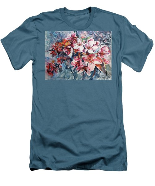 Men's T-Shirt (Slim Fit) featuring the painting Spring Beauty by Kovacs Anna Brigitta
