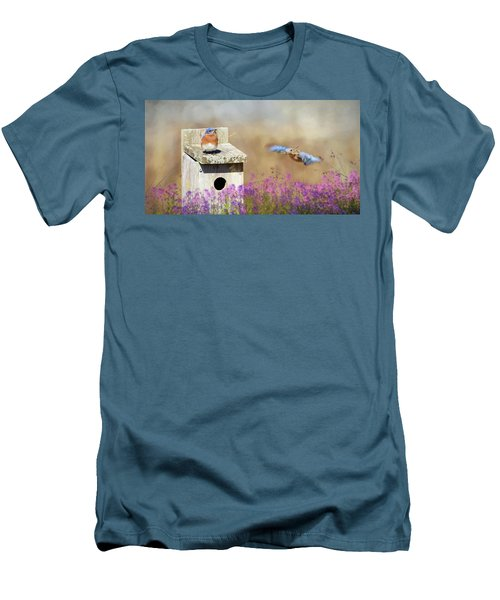 Men's T-Shirt (Slim Fit) featuring the photograph Spring Builders by Lori Deiter