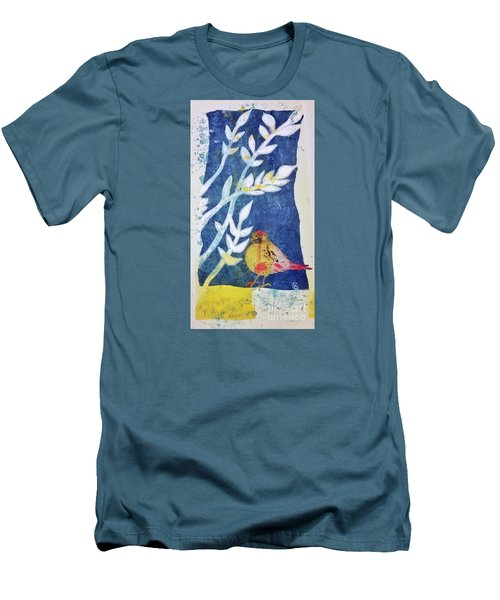 Men's T-Shirt (Slim Fit) featuring the mixed media Spring Has Sprung by Cynthia Lagoudakis