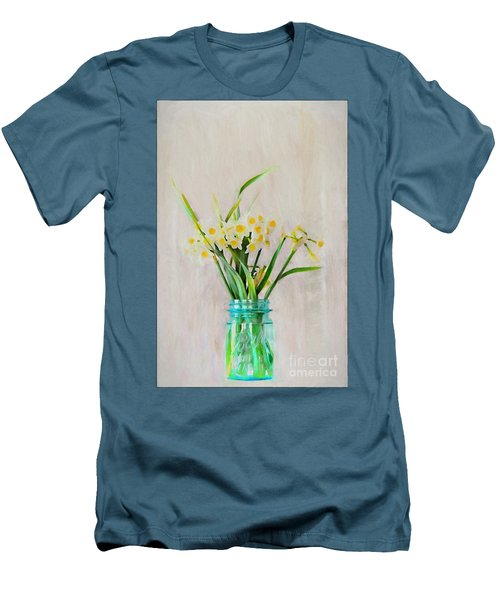 Men's T-Shirt (Slim Fit) featuring the photograph Spring In The Country by Benanne Stiens