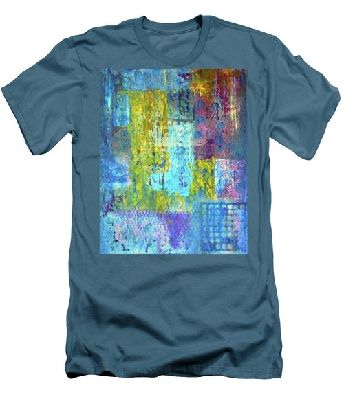 Men's T-Shirt (Slim Fit) featuring the painting Spring Into Summer by Everette McMahan jr