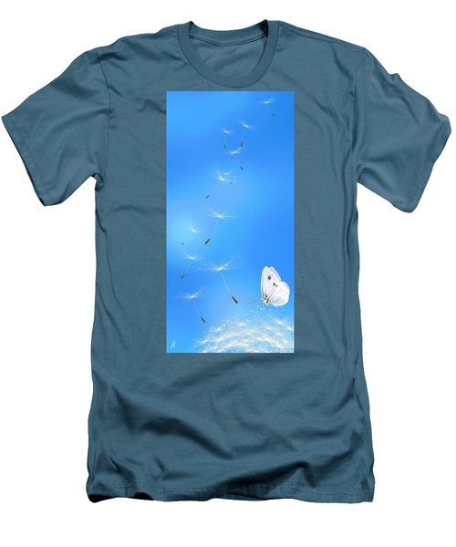 Men's T-Shirt (Slim Fit) featuring the painting Spring Lightness by Veronica Minozzi