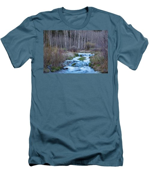 Spring Melt Off Flowing Down From Bonanza Men's T-Shirt (Slim Fit) by James BO Insogna