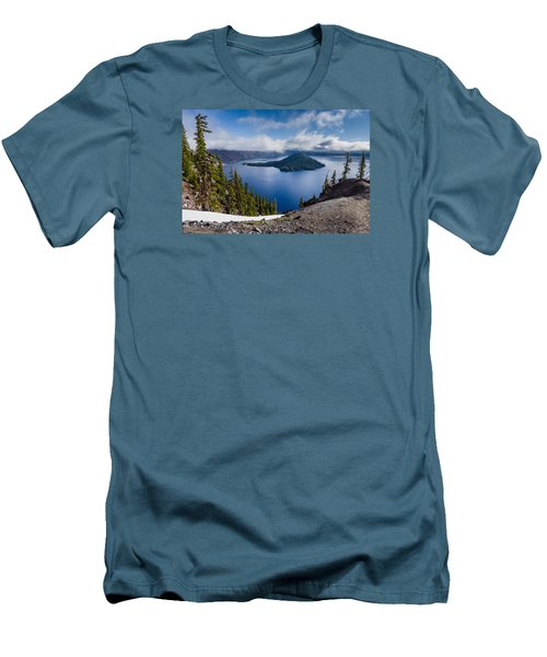Spring Morning At Discovery Point Men's T-Shirt (Slim Fit) by Greg Nyquist
