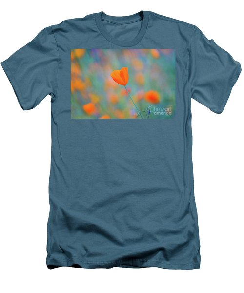 Spring Poppy Men's T-Shirt (Athletic Fit)
