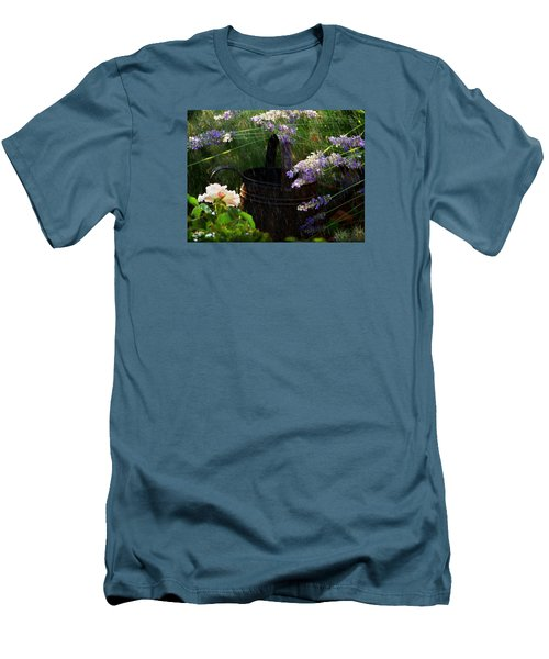 Spring Rain Men's T-Shirt (Slim Fit) by Marika Evanson