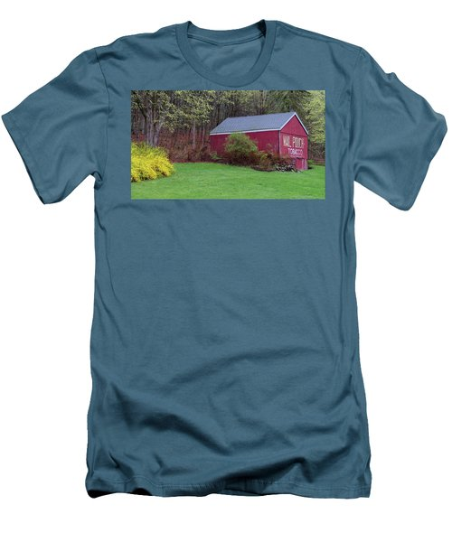 Men's T-Shirt (Slim Fit) featuring the photograph Spring Tobacco Barn by Bill Wakeley