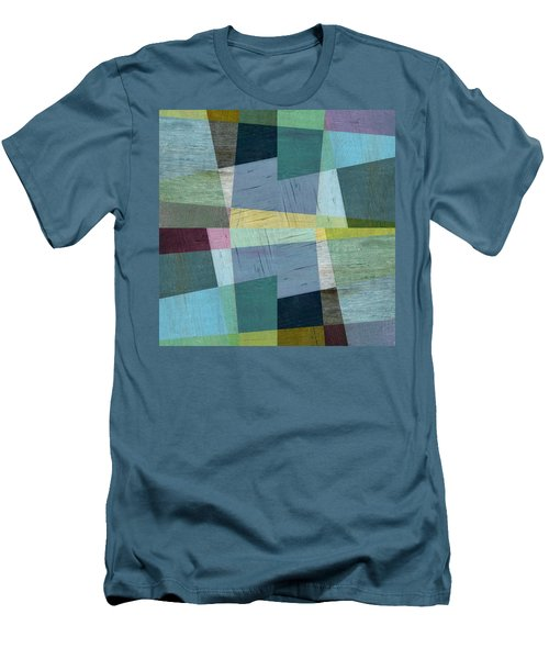 Men's T-Shirt (Slim Fit) featuring the digital art Squares And Shims by Michelle Calkins