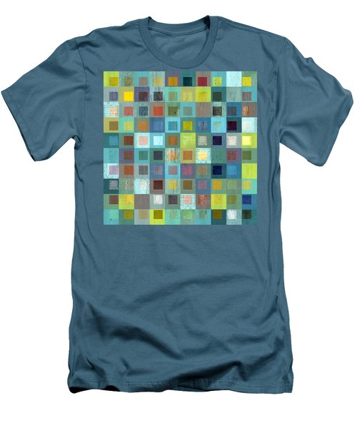Men's T-Shirt (Slim Fit) featuring the digital art Squares In Squares Two by Michelle Calkins