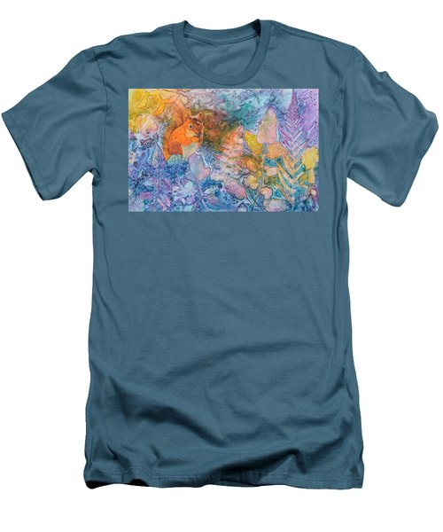 Squirrel Hollow Men's T-Shirt (Slim Fit) by Nancy Jolley