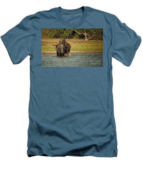 Sri Lankan Elephants  Men's T-Shirt (Athletic Fit)