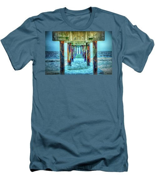 Men's T-Shirt (Slim Fit) featuring the photograph St. Augustine Beach by Louis Ferreira