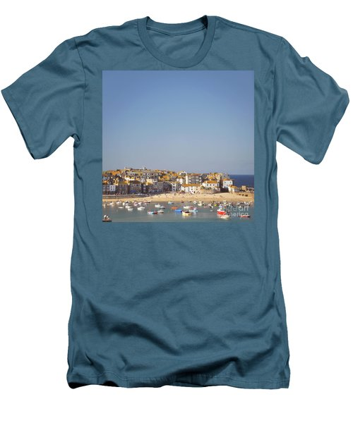 Men's T-Shirt (Slim Fit) featuring the photograph St Ives Harbour by Lyn Randle