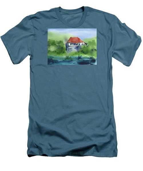 Men's T-Shirt (Slim Fit) featuring the painting St Johns Rental by Frank Bright