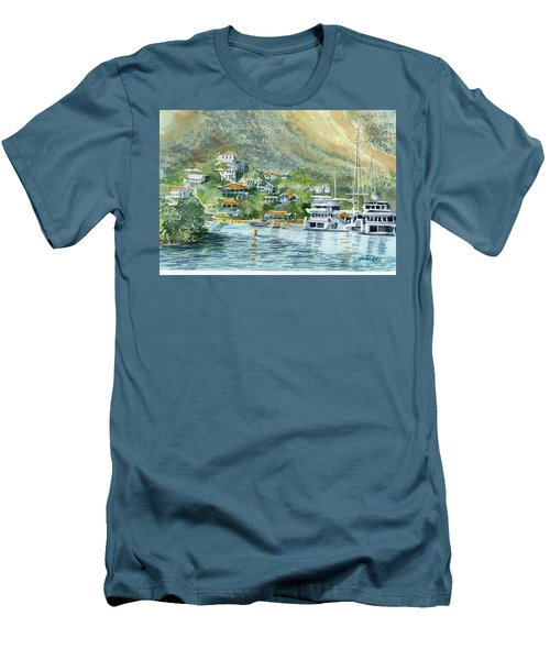 St. Maarten Cove Men's T-Shirt (Athletic Fit)