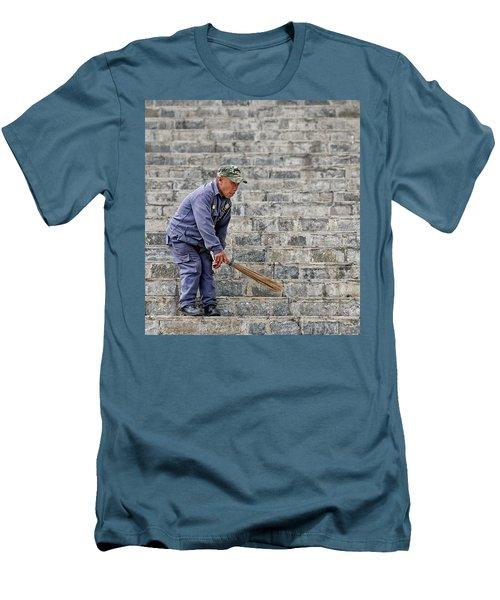 Stair Sweeper In Bhutan Men's T-Shirt (Slim Fit) by Joe Bonita