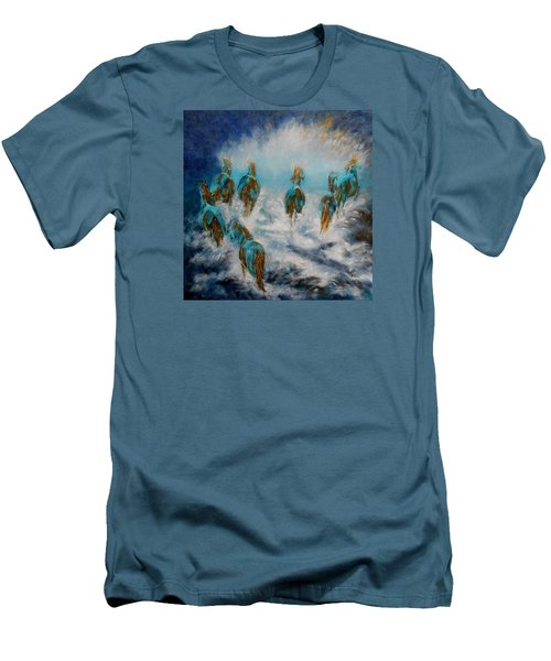 Stampede To Heaven Men's T-Shirt (Athletic Fit)