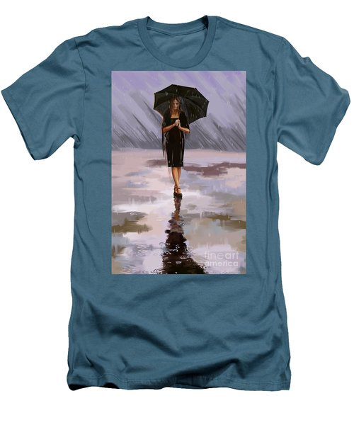 Standing-in-the-rain Men's T-Shirt (Athletic Fit)