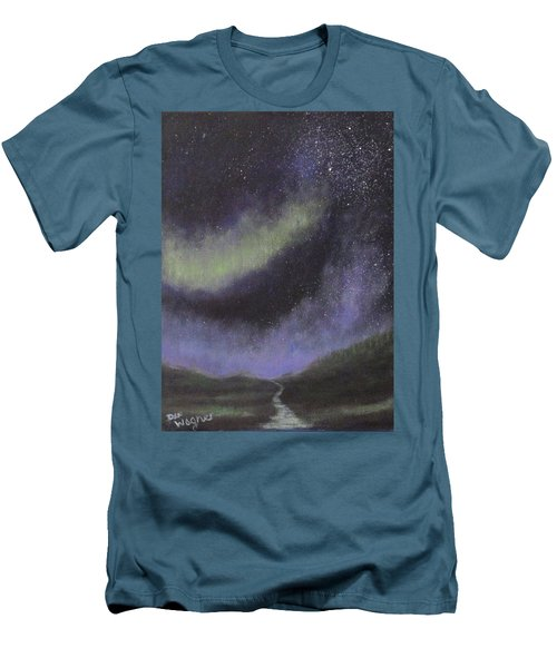 Men's T-Shirt (Slim Fit) featuring the painting Star Path by Dan Wagner