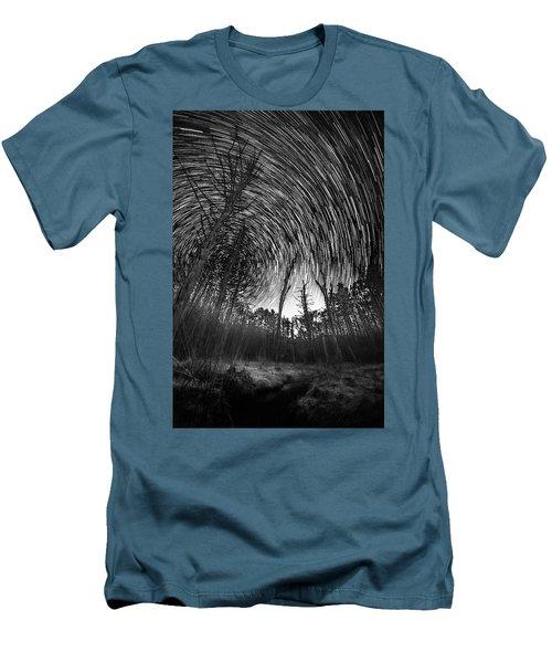 Star Trails - Blue Ridge Parkway Men's T-Shirt (Athletic Fit)