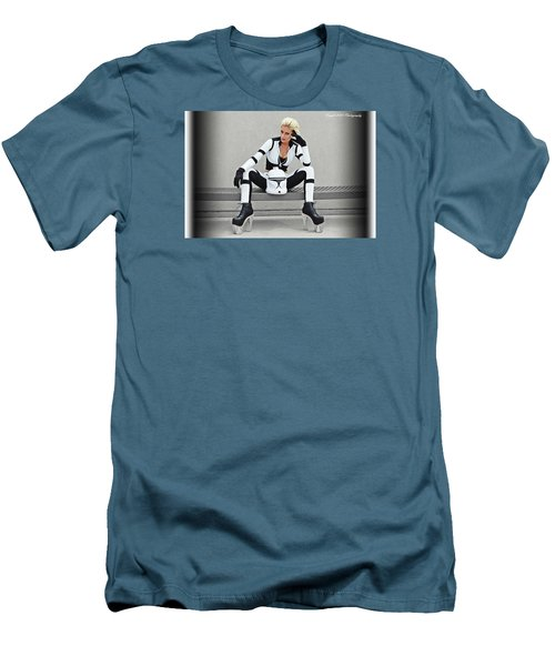 Star Wars By Knight 2000 Photography- Clone Trooper Men's T-Shirt (Slim Fit) by Laura Michelle Corbin