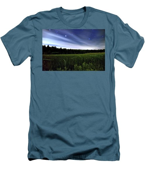 Starlight And Fireflies Men's T-Shirt (Athletic Fit)