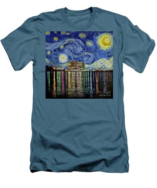 Starry Night In Destin Men's T-Shirt (Slim Fit) by Walt Foegelle