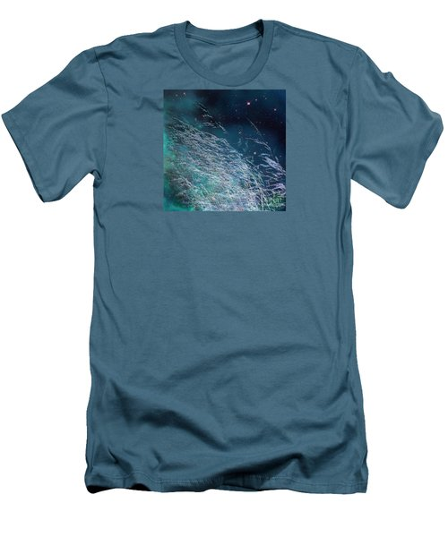 Men's T-Shirt (Athletic Fit) featuring the photograph Starry Sky Grass by Yulia Kazansky