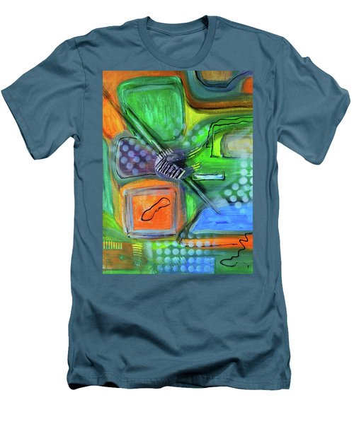 Men's T-Shirt (Slim Fit) featuring the painting Stay In The Game by Everette McMahan jr