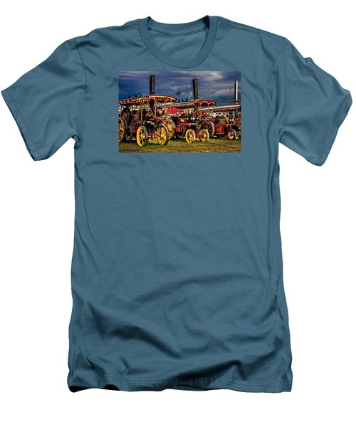 Men's T-Shirt (Athletic Fit) featuring the photograph Steam Power by Chris Lord