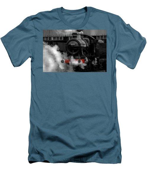 Steam Train Selective Colour Men's T-Shirt (Slim Fit) by Ken Brannen