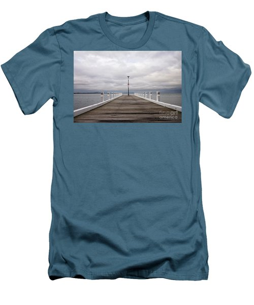 Men's T-Shirt (Slim Fit) featuring the photograph Steampacket Quay by Linda Lees