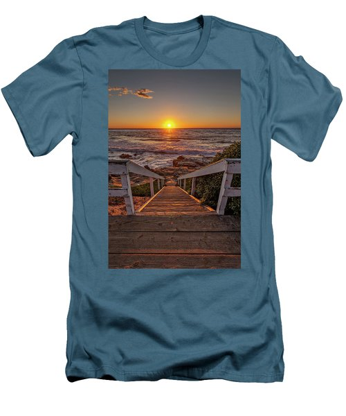 Steps To The Sun  Men's T-Shirt (Slim Fit) by Peter Tellone