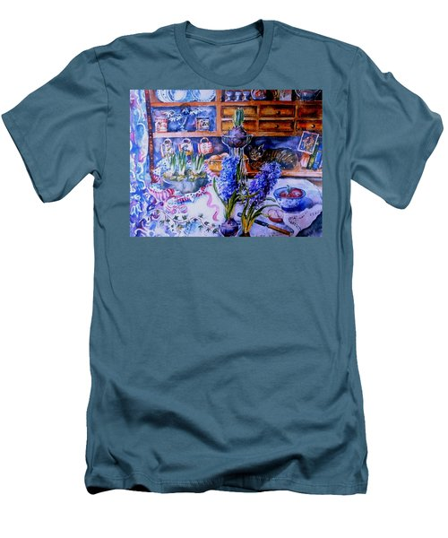 Still Life With Hyacinths  Men's T-Shirt (Slim Fit) by Trudi Doyle