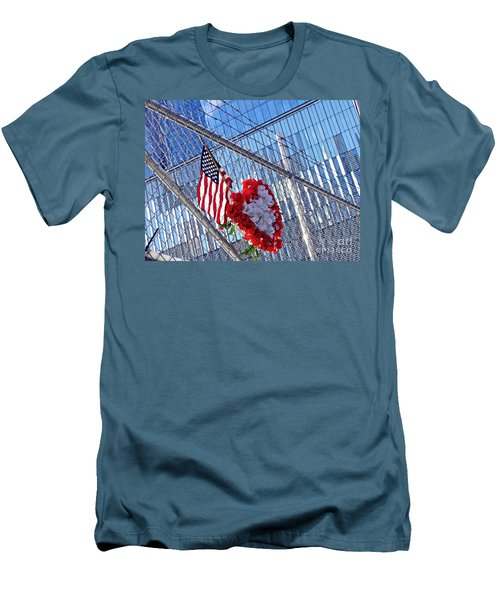 Men's T-Shirt (Slim Fit) featuring the photograph Still Remembered  by Sarah Loft