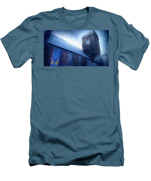 Stone Church Watch Tower Men's T-Shirt (Athletic Fit)