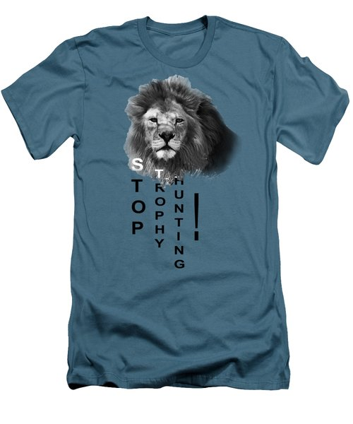 Stop Trophy Hunting Men's T-Shirt (Slim Fit) by Jivko Nakev