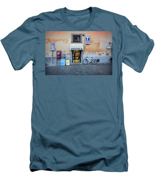 Storefront In Rome Men's T-Shirt (Athletic Fit)