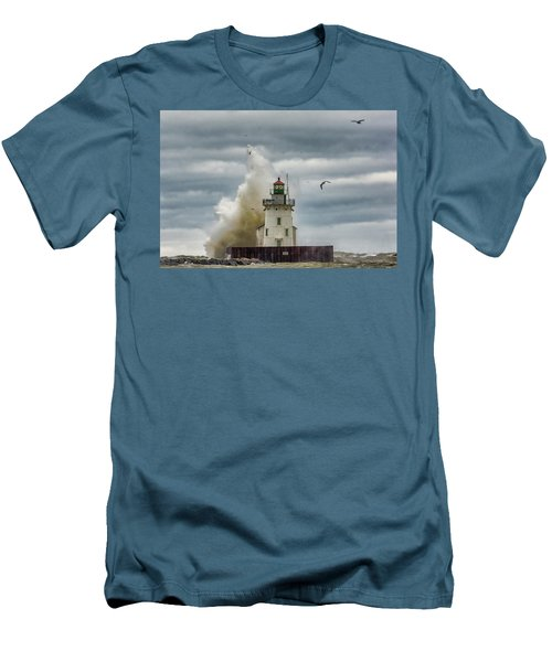 Storm On Lake Erie Men's T-Shirt (Athletic Fit)