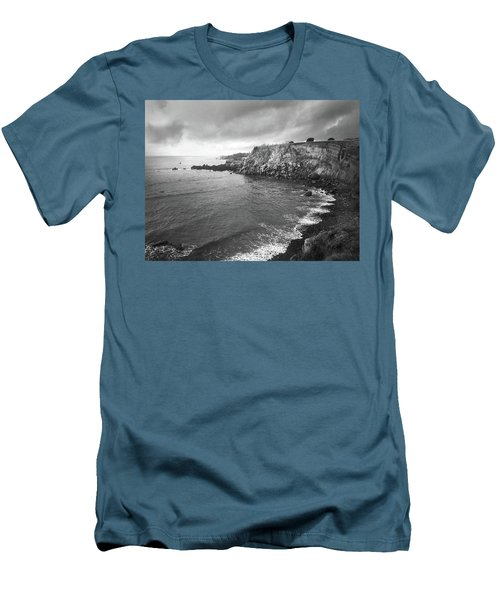 Storm Over The Eastern Shoreline Of Angra Do Heroismo Terceira Men's T-Shirt (Slim Fit) by Kelly Hazel